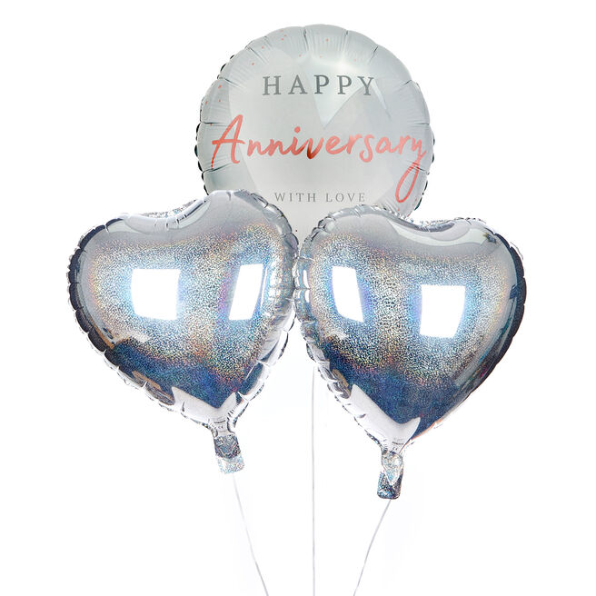 With Love Happy Anniversary Balloon Bouquet - The Perfect Gift!
