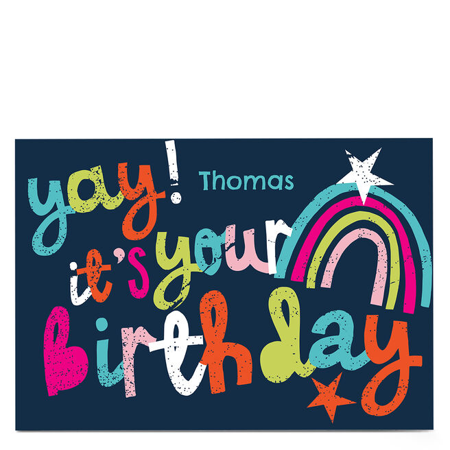 Personalised Bev Hopwood Card - It's Your Birthday