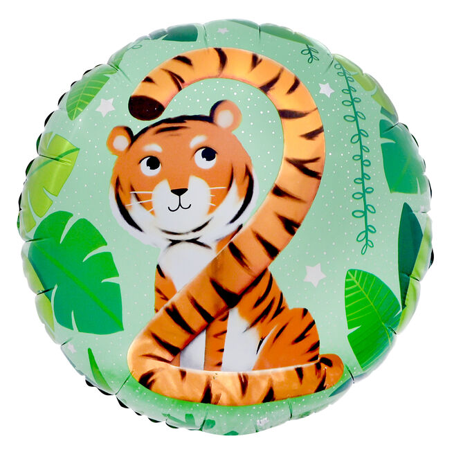 Tiger Tail 2nd Birthday 18-Inch Foil Helium Balloon