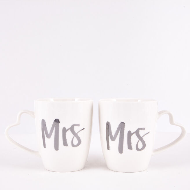 Mrs & Mrs Wedding Mug Set