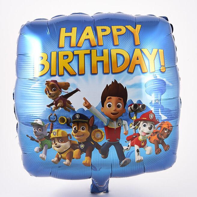 Paw Patrol Happy Birthday Foil Helium Balloon