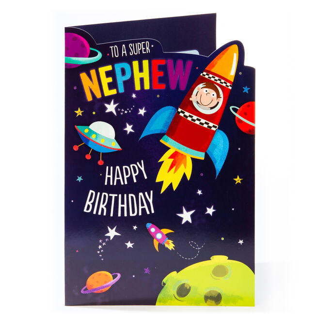 Giant Birthday card - Super Nephew