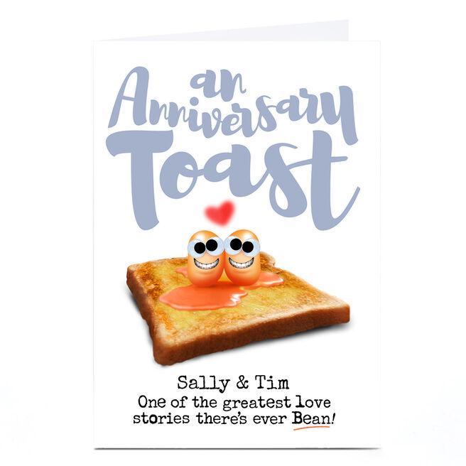 Personalised PG Quips Anniversary Card - Anniversary Toast