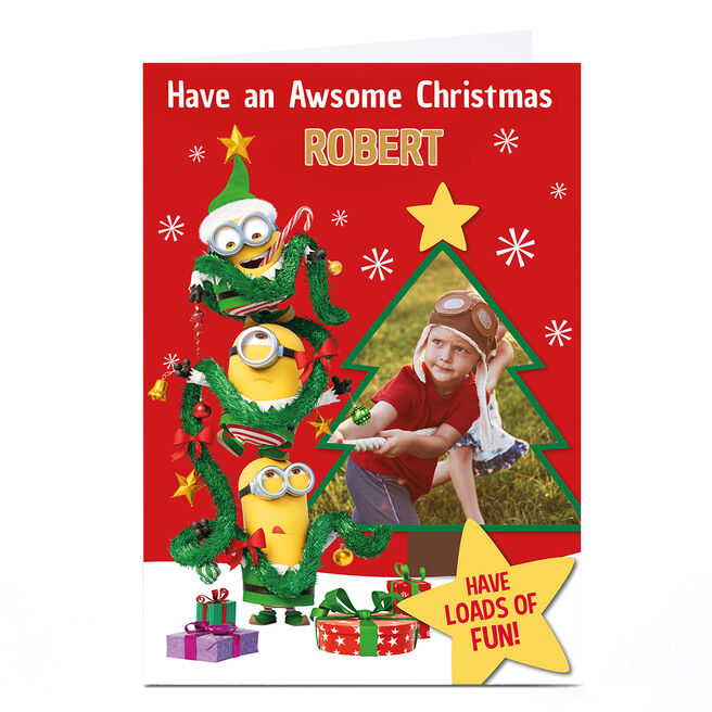 Photo Despicable Me Christmas Card - Awesome
