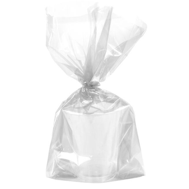 Clear Plastic Gift Bags & Twist Ties - Pack of 30