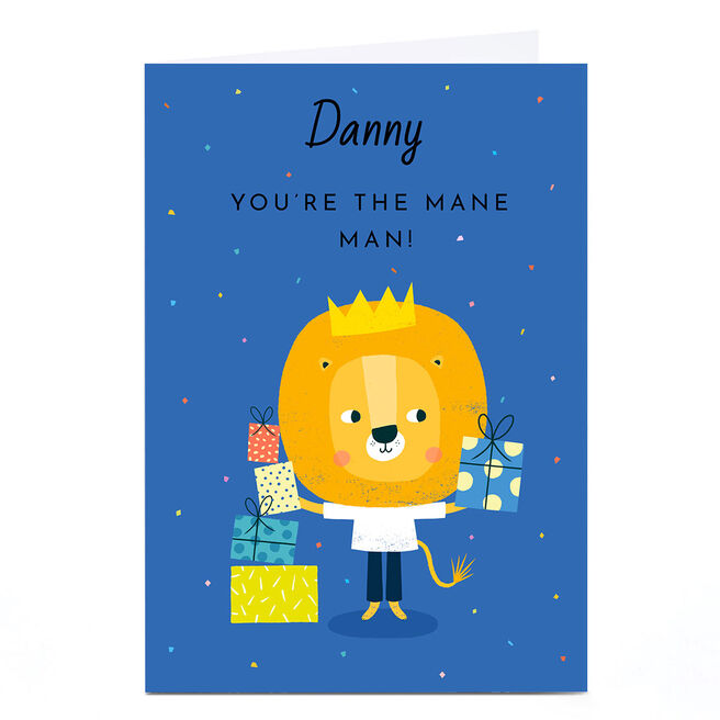 Personalised Lemon & Sugar Card - You're The Mane Man!