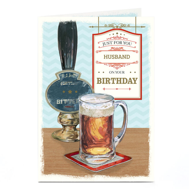 Personalised Birthday Card - Pub Scene [Husband]
