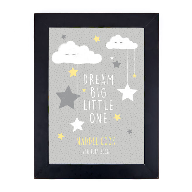 Personalised Night's Sky Print - Dream Big Little One
