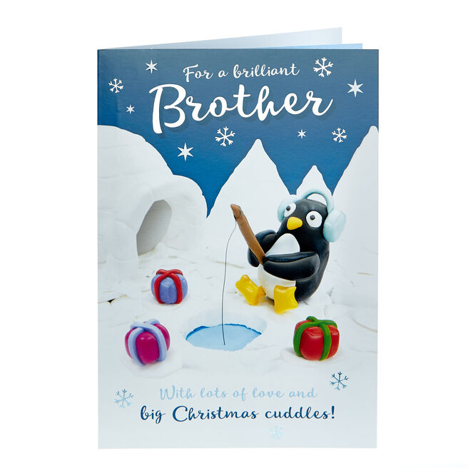 Christmas Card - Brilliant Brother Penguin