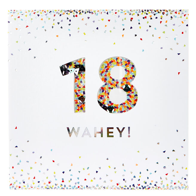 VIP Collection 18th Birthday Card - Confetti