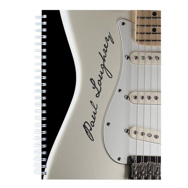 Personalised Cream Guitar Notebook