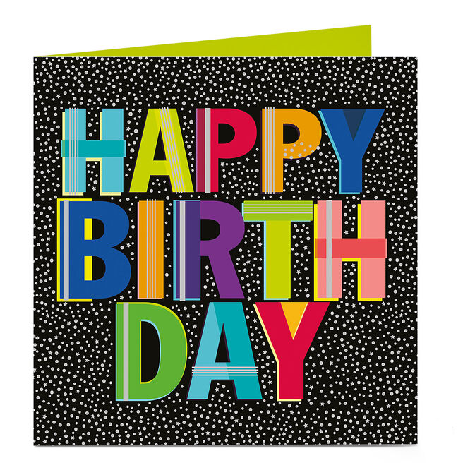 Personalised Bright Ideas Birthday Card - Colourful Letters