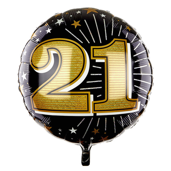 31 Inch Foil Balloon - Age 21 Gold 16446