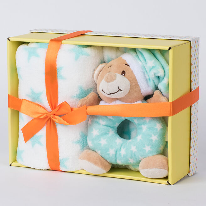 Tiny Treasures Blanket & Rattle Set