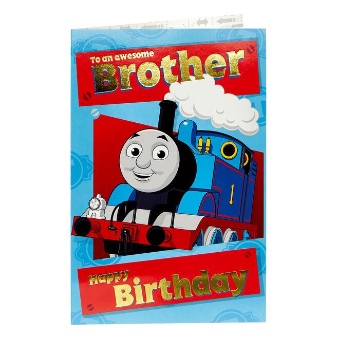 Thomas & Friends Birthday Card - Brother
