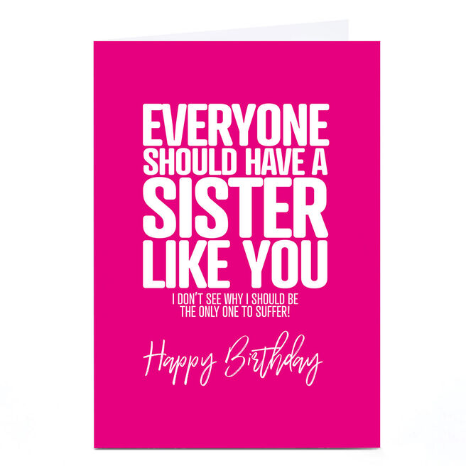 Personalised Punk Birthday Card - A Sister Like You