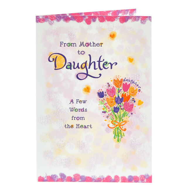 Blue Mountain Arts Card - From Mother To Daughter