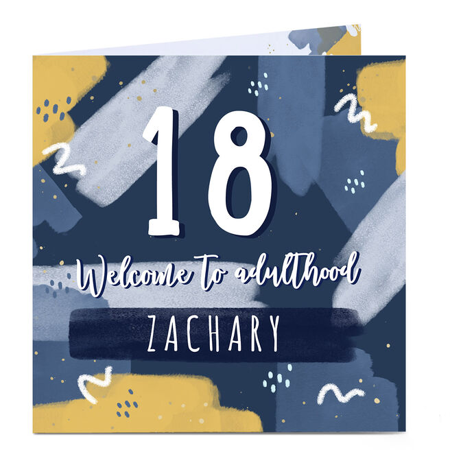 Personalised 18th Birthday Card - Welcome to Adulthood
