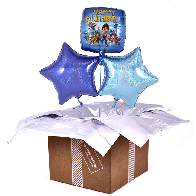 Paw Patrol Happy Birthday Blue Balloon Bouquet - DELIVERED INFLATED!