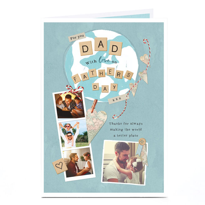 Photo Father's Day Card - Picture Collage