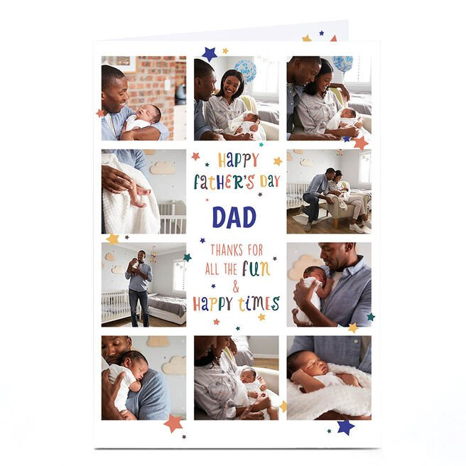 Photo Father's Day Card - Fun & Happy Times