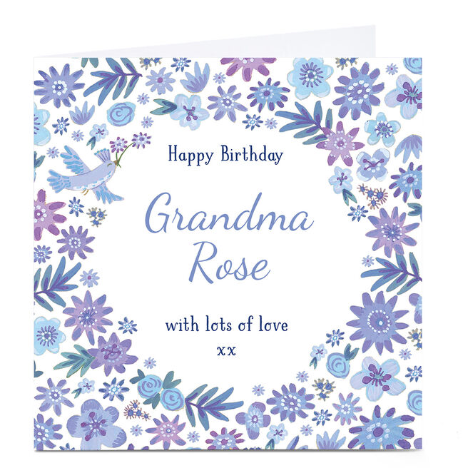 Personalised Birthday Card - Lilacs & Lavendar