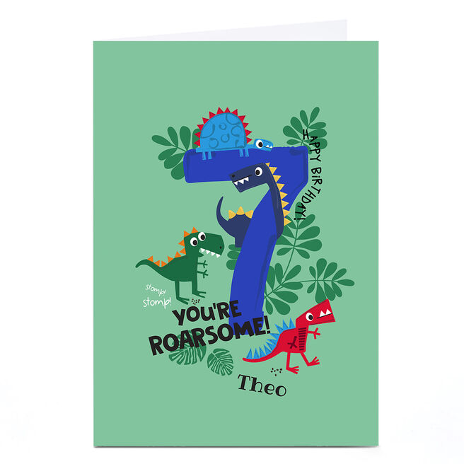 Personalised Rachel Griffin Birthday Card - 7, You're Roarsome!