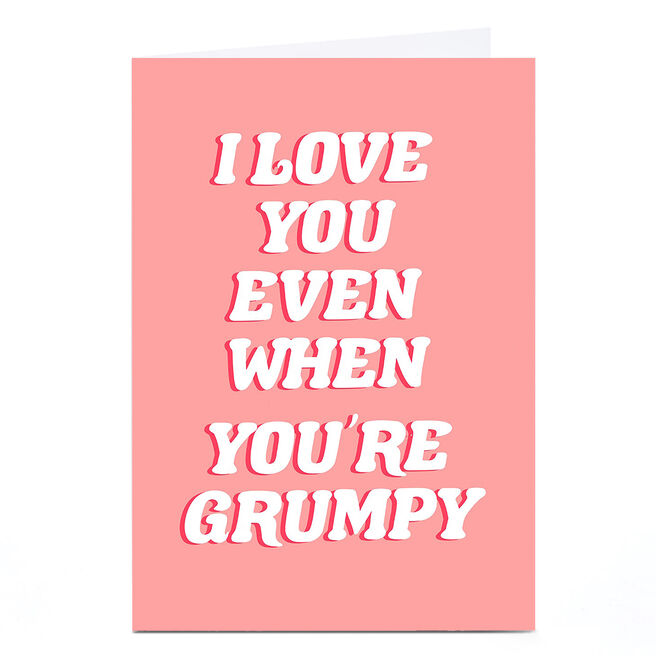 Personalised Phoebe Munger Card - Grumpy