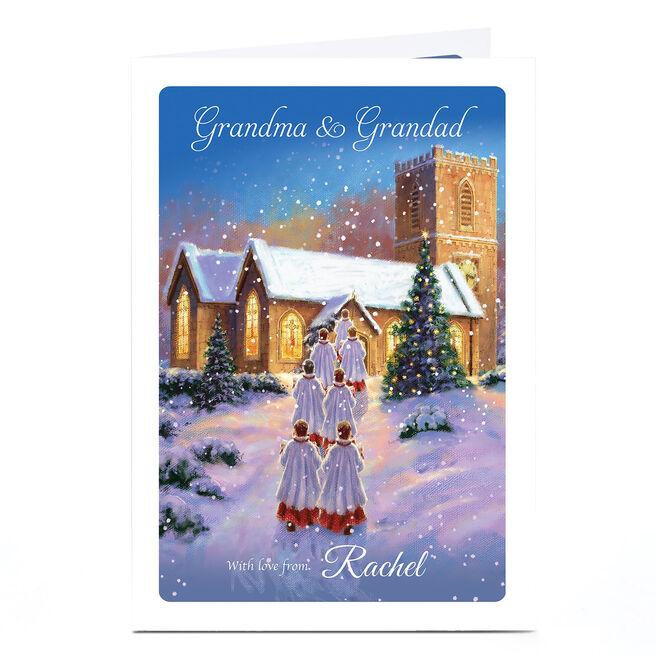Personalised Christmas Card - Grandma & Grandad, Church Choir