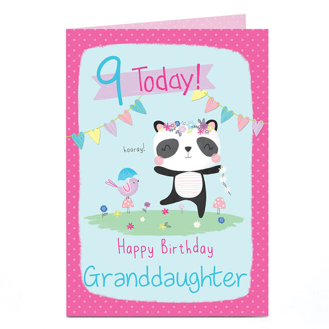 Personalised Any Age Birthday Card - Happy Panda
