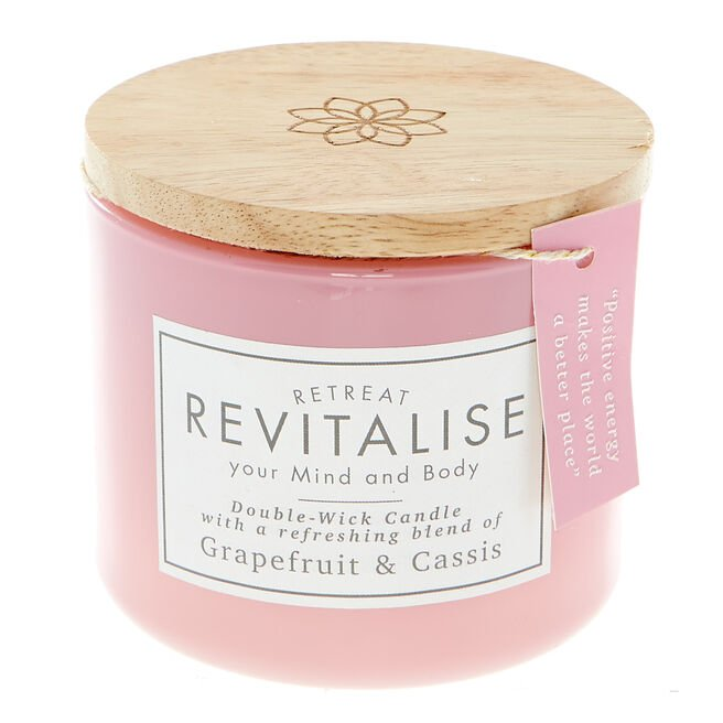 Grapefruit & Cassis Double-Wick Scented Candle