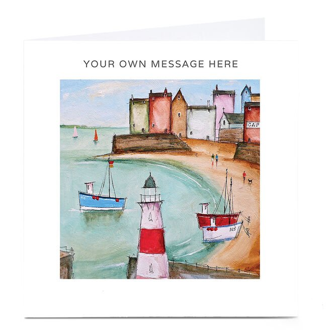 Personalised Card - Boats By The Sea