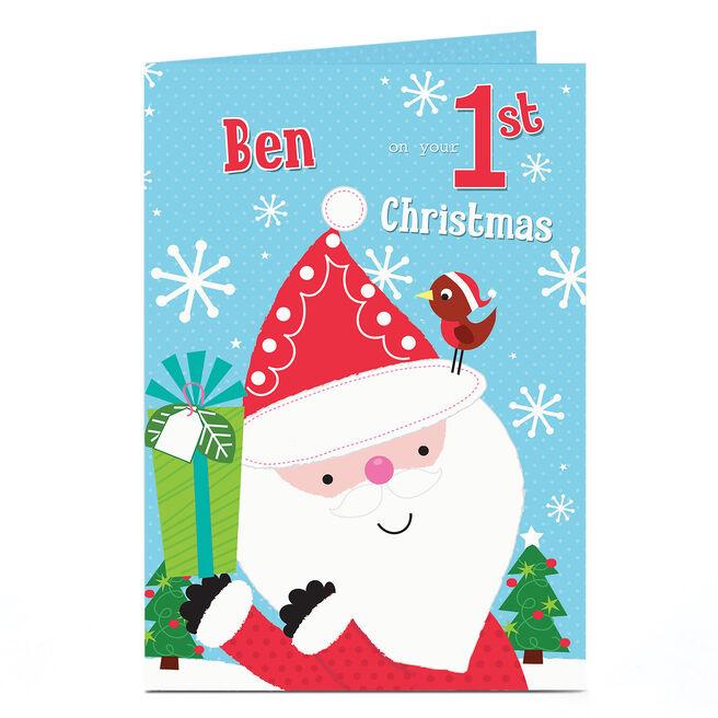 Personalised Christmas Card - Santa 1st Christmas