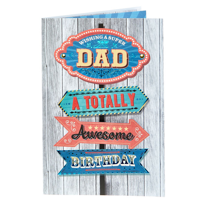 Birthday Card - Super Dad Totally Awesome