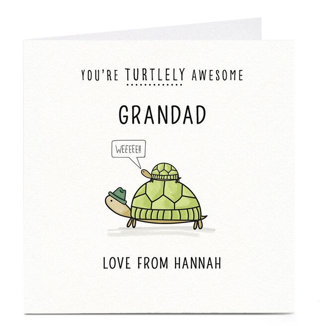 Personalised Card - Turtlely Awesome