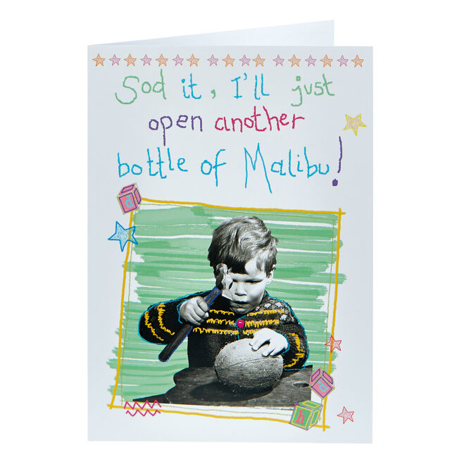 Any Occasion Card - Another Bottle Of Malibu