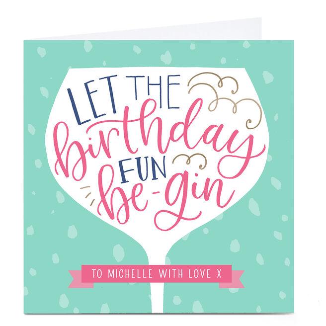 Personalised Nikki Whiston Birthday Card - Gin