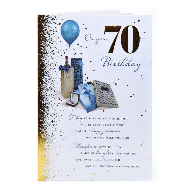 70th Birthday Card - Happy Memories