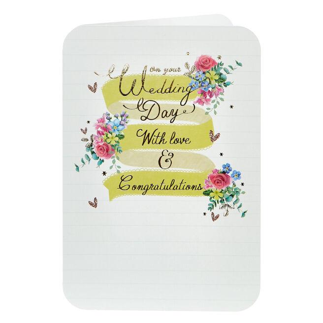 Wedding Card - Love & Congratulations