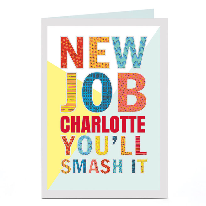 Personalised New Job Card - You'll Smash It