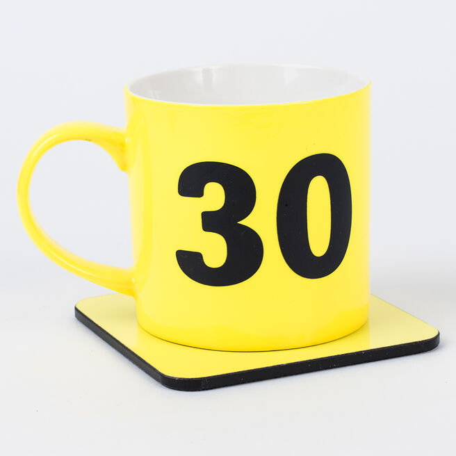 Happy 30th Birthday Mug & Coaster Set