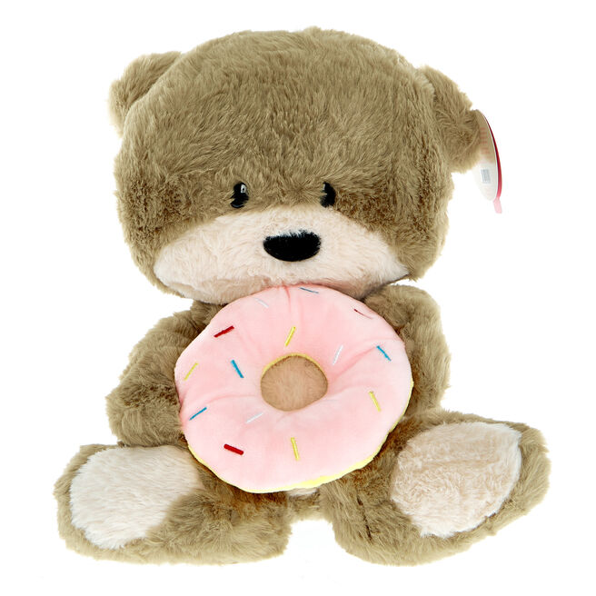 Hugs Bear With Donut Soft Toy