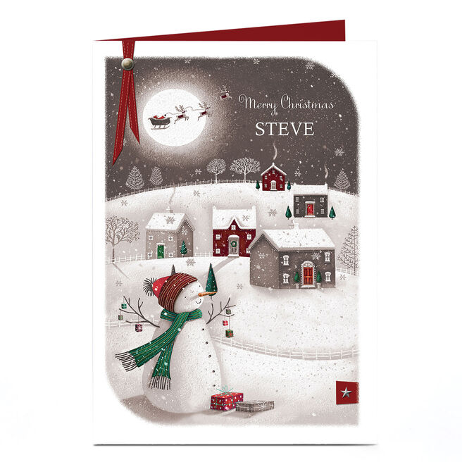 Personalised Christmas Card - Christmas Eve Scene