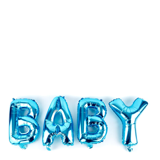 Baby Blue Balloon Banner Kit