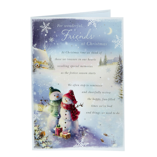 Christmas Cards - For Wonderful Friends Snowmen