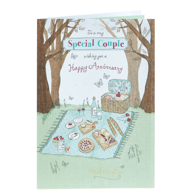 Anniversary Card - To A Very Special Couple