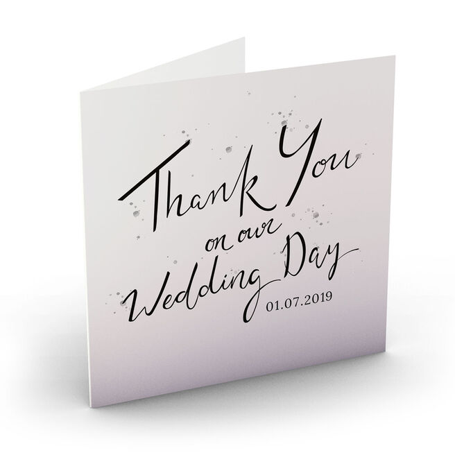 Personalised Wedding Card - Thank You