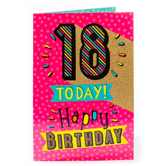 Giant Birthday Card - 18 Today!