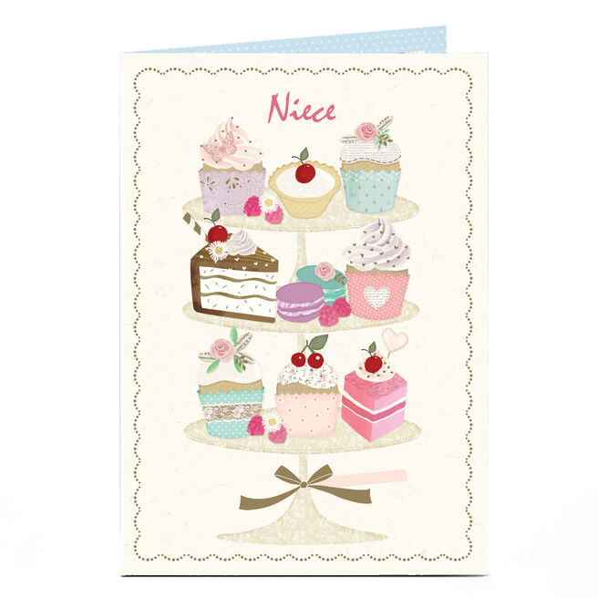 Personalised Birthday Card - Afternoon Tea Niece