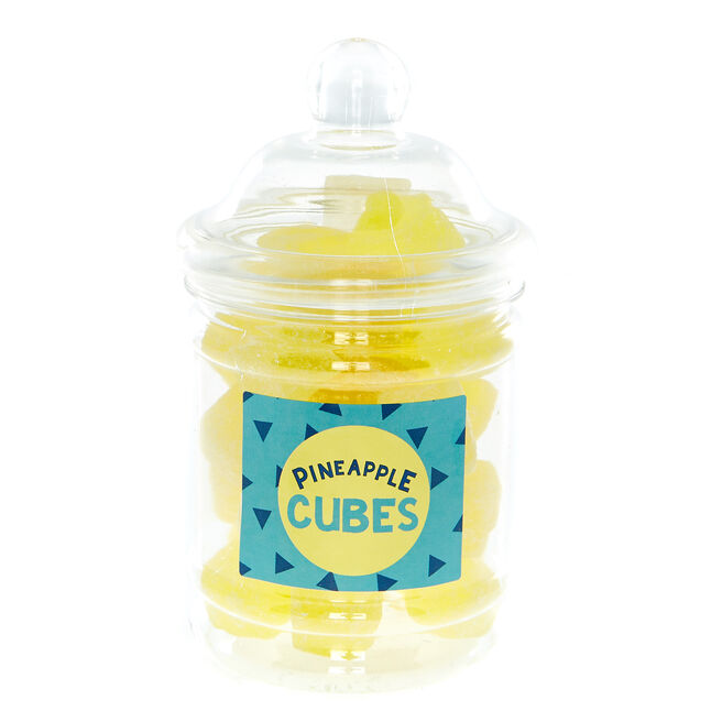 Pineapple Cubes Boiled Sweets In A Jar